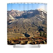 Flowers On Mount St. Helens Shower Curtain