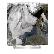 Fog In The North Sea Shower Curtain
