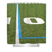 Football Field Ten Shower Curtain