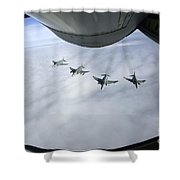 Formation Of Luftwaffe F-4f Phantom IIs Shower Curtain
