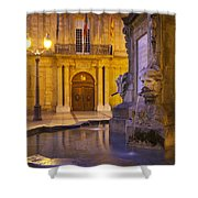 Fountain Aix-en-provence Shower Curtain