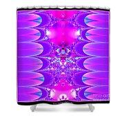 Fractal 16 Purple Passion Shower Curtain