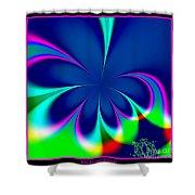 Fractal 24 Floral Fleur De Lis Shower Curtain