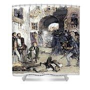 France: Paris Riot, 1851 Shower Curtain