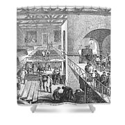 France: Wine Harvest, 1871 Shower Curtain