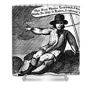 Franklin: Way To Wealth Shower Curtain by Granger