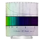 Fraunhofer Lines Shower Curtain