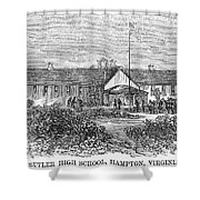 Freedmens School, 1868 Shower Curtain