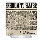 Freedom To Slaves Shower Curtain