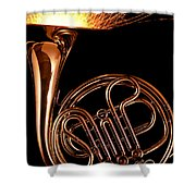 French Horn With Sparks Shower Curtain