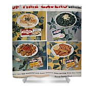 Frozen Food Ad, 1957 Shower Curtain
