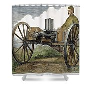 Gatling Gun, 1872 Shower Curtain