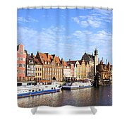 Gdansk Old Town In Poland Shower Curtain
