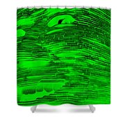 Gentle Giant In Negative Green Shower Curtain