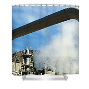 Geothermal Power Plant Shower Curtain