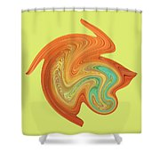 Gerbera Abstract Shower Curtain