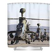 German Tiger Eurocopters At Fritzlar Shower Curtain