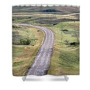 Ghost Town Galilee Saskatchewan Shower Curtain