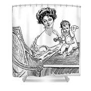 Gibson: Gibson Girl, 1901 Shower Curtain