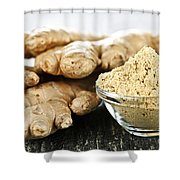 Ginger Root Shower Curtain