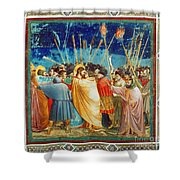 Giotto: Betrayal Of Christ Shower Curtain
