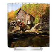 Glade Creek Grist Mill Shower Curtain