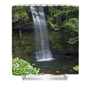 Glencar Waterfall, Co Sligo, Ireland Shower Curtain