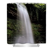 Glencar Waterfall, County Leitrim Shower Curtain