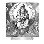 God Resting On 7th Day Shower Curtain