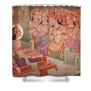 Gods Entertaining Mahavira Shower Curtain