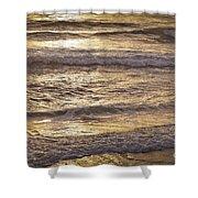Golden Surf Shower Curtain