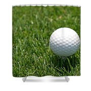 Golf Ball Shower Curtain