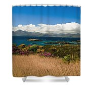 Gorse And Rhododendron Bushes Shower Curtain