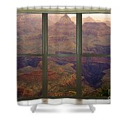 Grand Canyon Springtime Bay Window View Shower Curtain