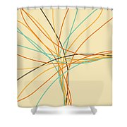Graphic Line Pattern Shower Curtain by Setsiri Silapasuwanchai