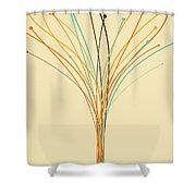 Graphic Tree Shower Curtain