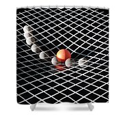 Gravity Simulation Shower Curtain