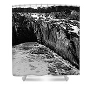 Great Falls Virginia Bw Shower Curtain