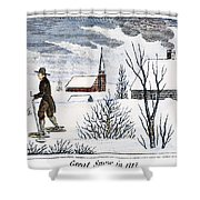 Great Snow Of 1717 Shower Curtain