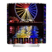 Great Wheel Poster Shower Curtain