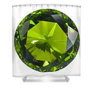 Green Gem Isolated Shower Curtain