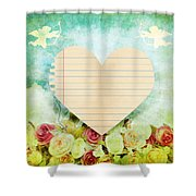 greeting card Valentine day Shower Curtain