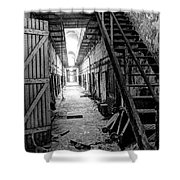 Grim Cell Block In Philadelphia Eastern State Penitentiary Shower Curtain
