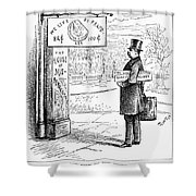 Grover Cleveland Cartoon Shower Curtain