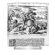 Guiana: Gold Casting, 1599 Shower Curtain