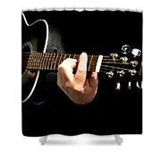 Guitar In Hands  Shower Curtain