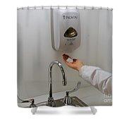 Hand Washing Shower Curtain