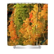 Hang Gliding The Autumn Colors Shower Curtain