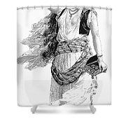 Harem Woman. 19th Century Shower Curtain