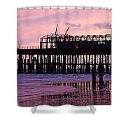 Hastings Pier After The Fire Shower Curtain by Dawn OConnor